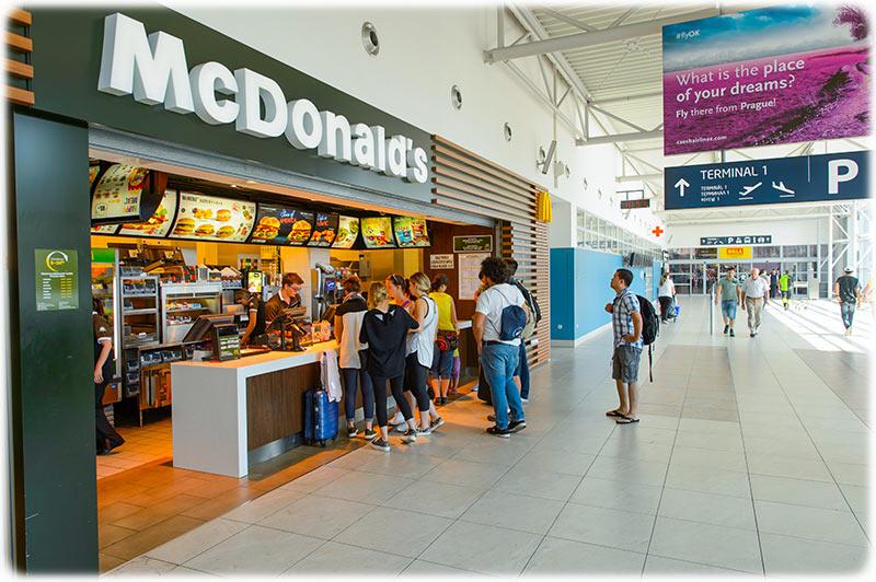 Mcdonalds at Prague Airport