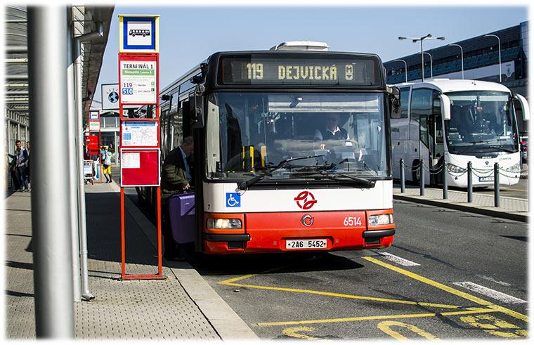 Public bus 119 市内中心部への行き方